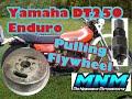 HOW TO -  1 of 2 Vintage Yamaha DT250 DT 250 Motor Rebuilt Case Split Engine Tear Down Crankcase