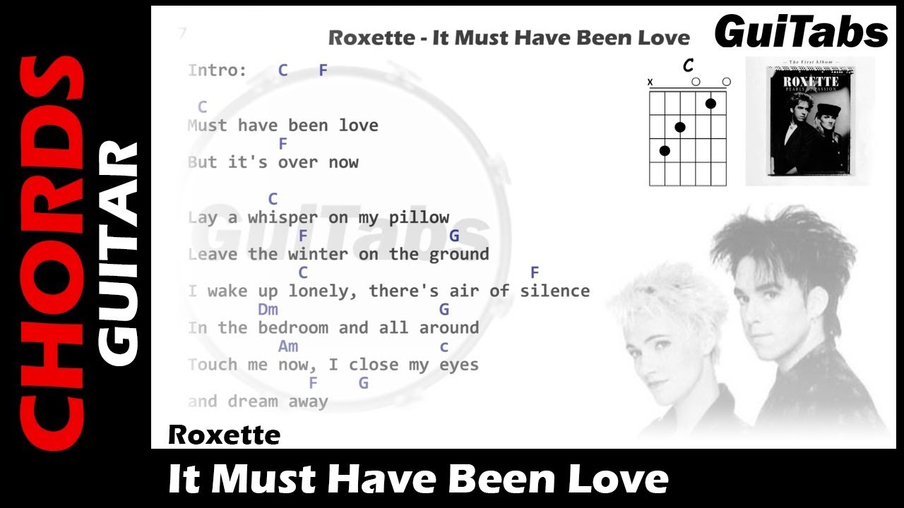 Roxette It Must Have Been Love Lyrics And Guitar Chords