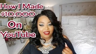 Video How I Made 10,000 on Youtube| How To Get Paid On YouTube + More! download MP3, 3GP, MP4, WEBM, AVI, FLV April 2018