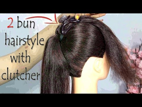 2-beautiful-bun-hairstyle-for-girls-||-bun-with-clutcher-||-hair-style-girl-||-trending-hairstyle