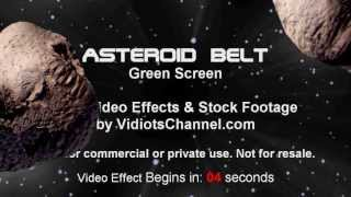 Asteroid Belt - Free Green Screen Effect