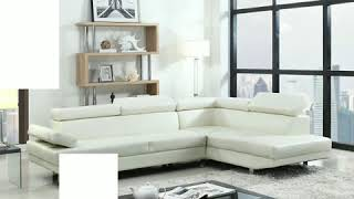 Piece Modern Contemporary Faux Leather Sectional Sofa