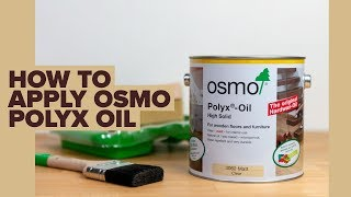 The Best way to Finish your Floor with Osmo Polyx Oil!