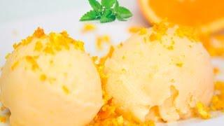Cómo hacer auténtico Helado  de naranja. Receta fácil.