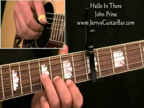 How To Play John Prine Hello In There (intro only)