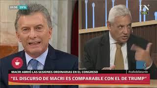 Análisis de Daniel Lipovetzky sobre el discurso de Macri, lo compara con Trump