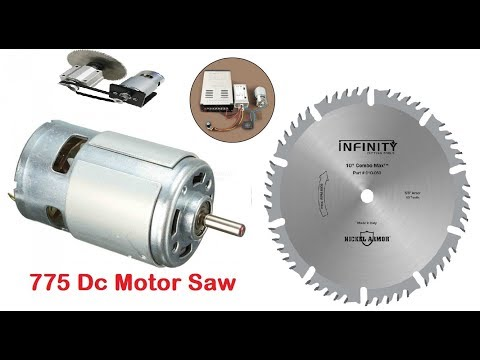 Awesome DIY idea Mini Power Table Saw with 775 DC Motor