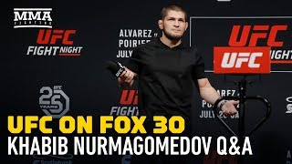 Khabib Nurmagomedov Says UFC Gave Him Security in Case Conor McGregor Shows Up in Calgary