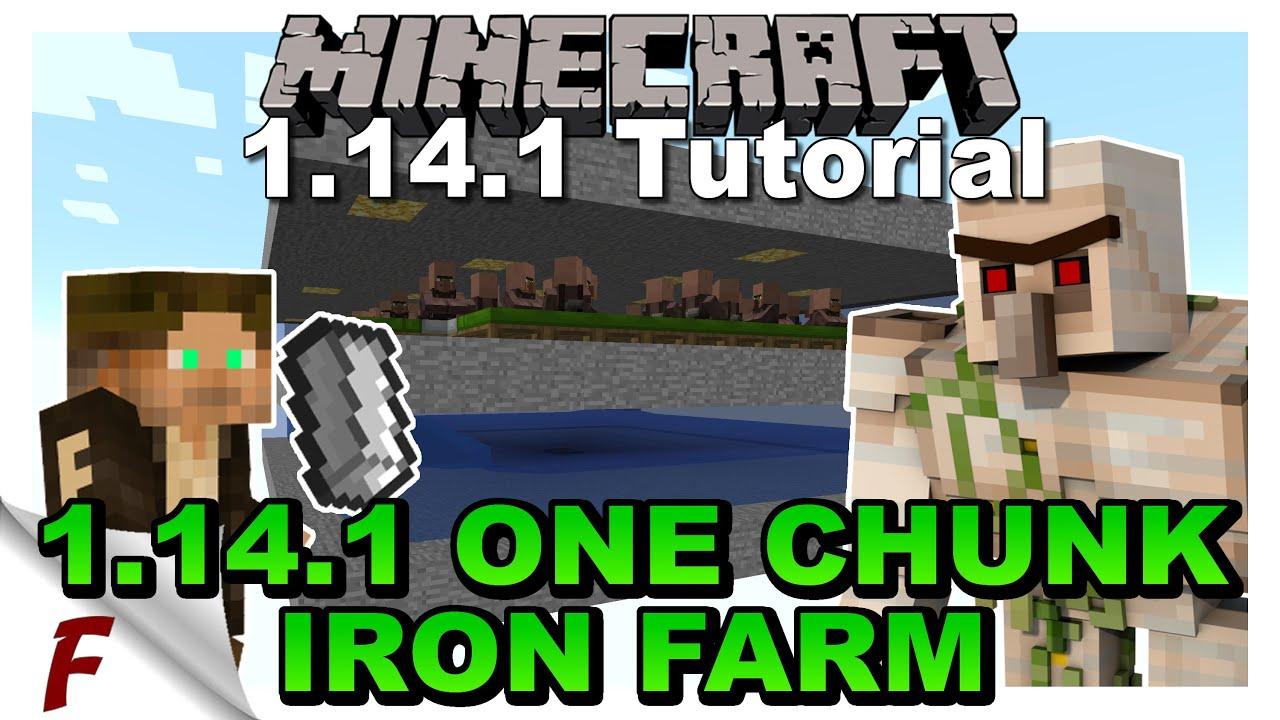 Minecraft Iron Golem Farm Tutorial Java 1 14 1 And 1 14 2 Iron Farm Does Not Work In 1 14 3 Youtube