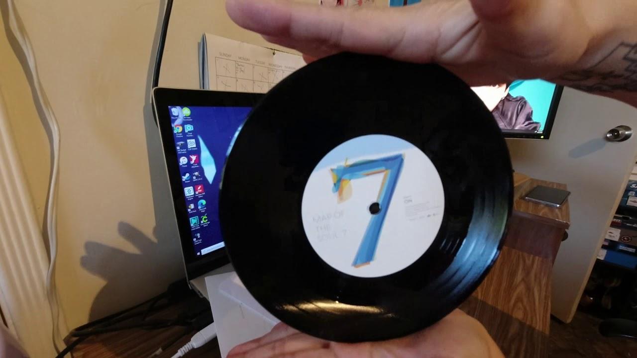 BTS -  Abriendo el nuevo Disco, LP, Acetato, Disco Negro de la cancion ON