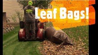Homemade Leaf Bags - Making + Testing