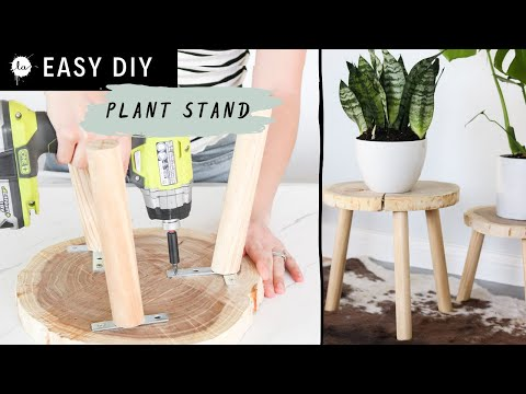DIY Easy Wood Plant Stand for $7