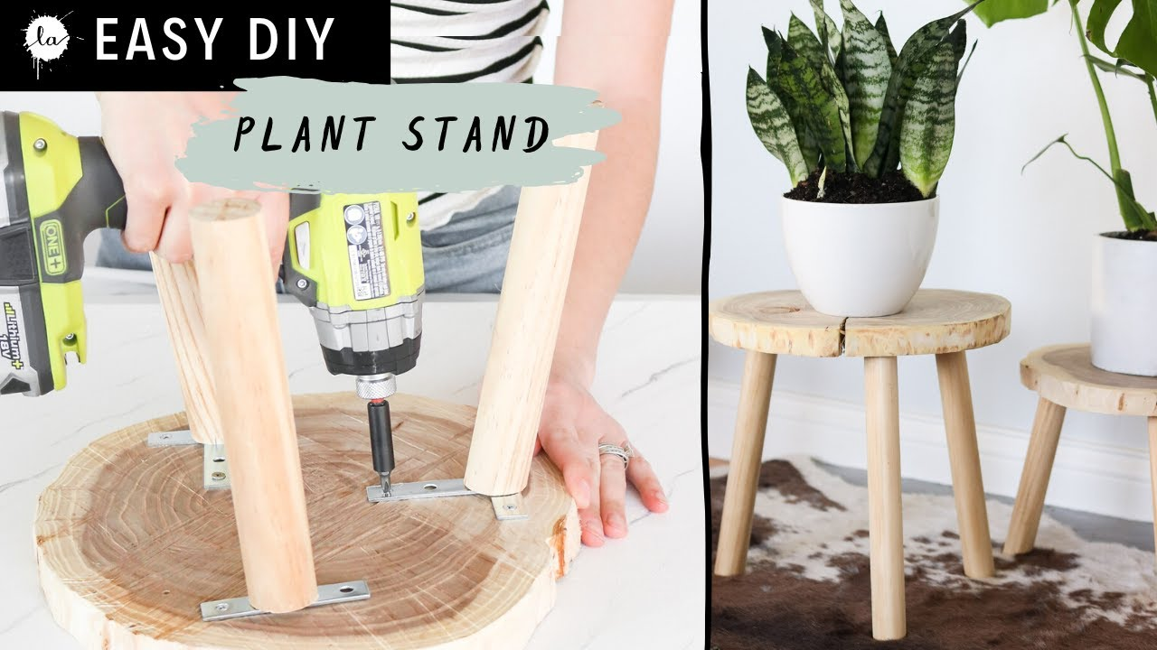 DIY Easy Wood Plant Stand for $7 - YouTube