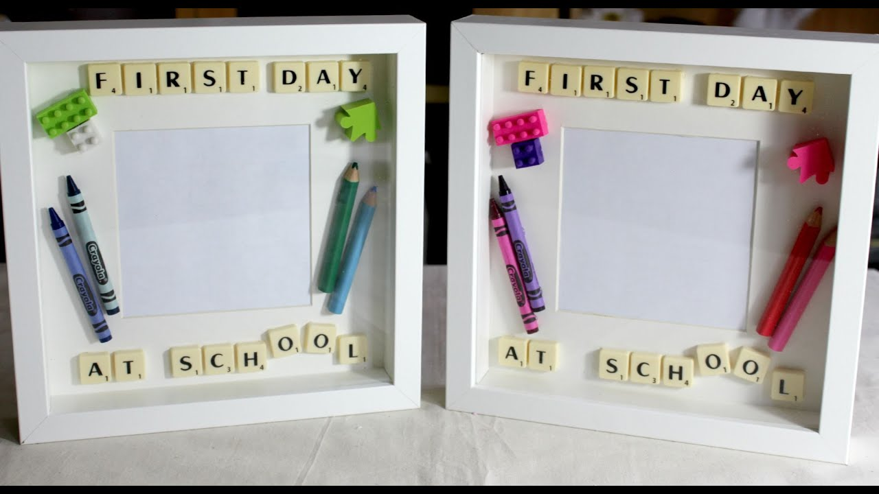 How to make a Back to School/First Day at School picture frame - YouTube