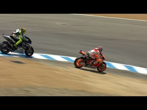 Marquez Puts One Over Rossi At The Corkscrew
