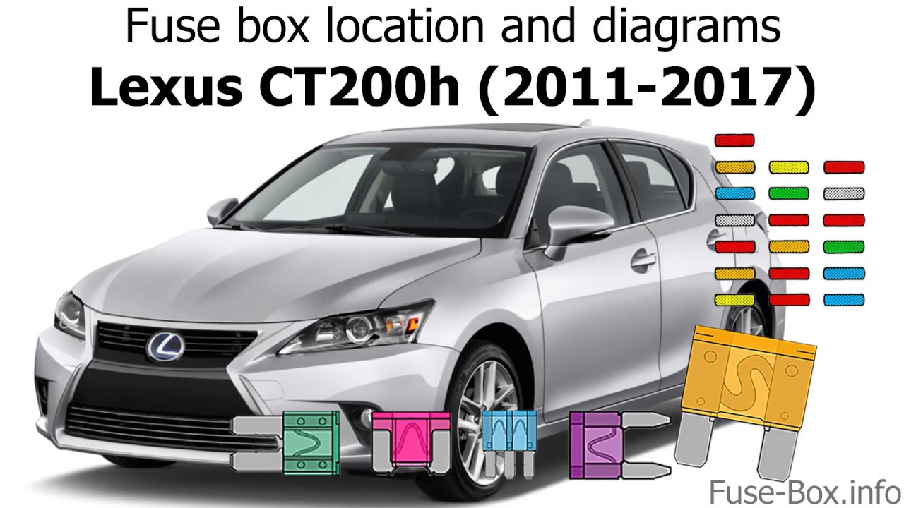 fuse box location and diagrams: lexus ct200h (2011-2017)