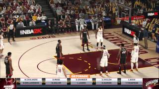NBA 2K15 Gameplay - Miami Heat vs Cleveland Cavaliers Full Game (Xbox One)