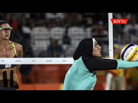 """Jugadora egipcia de voley playa por su imagen en Río 2016: """"Estoy orgullosa de mi hiyab"""""""