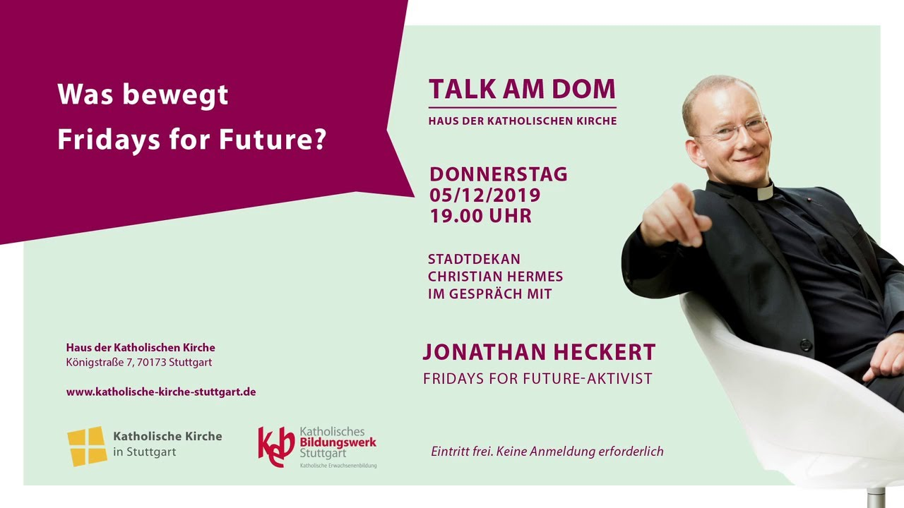 Talk am Dom mit Fridays for Future Aktivist Jonathan Heckert