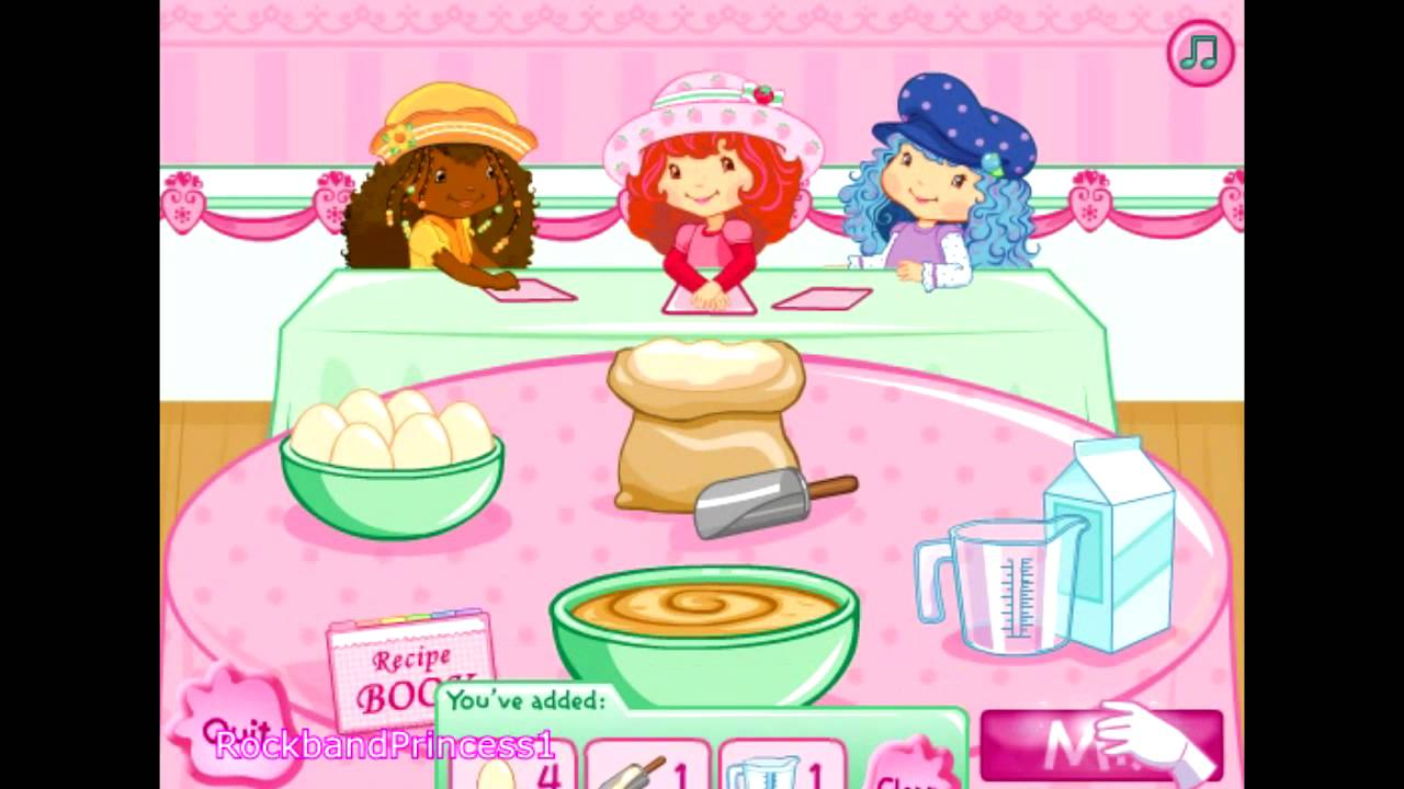 Strawberry Cake Making Games