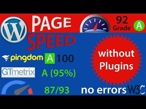 SPEED UP WORDPRESS ( Without Plugins) - WP SPEED OPTIMIZATION (Organic)