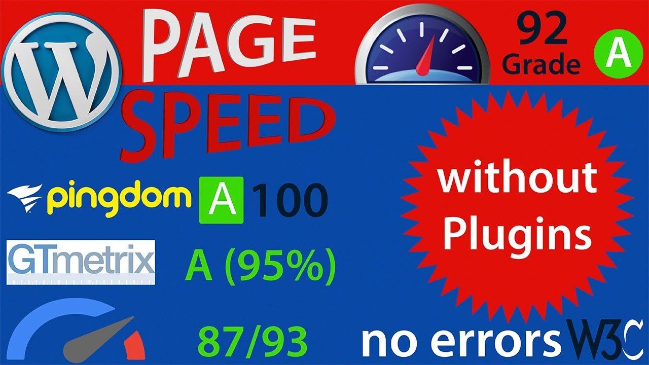 SPEED UP WORDPRESS ( Without Plugins) WP SPEED OPTIMIZATION