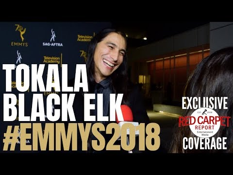 Tokala Black Elk #Yellowstone interviewed at 6th Dynamic & Diverse #Emmys #SAGAFTRA Party #Emmys70