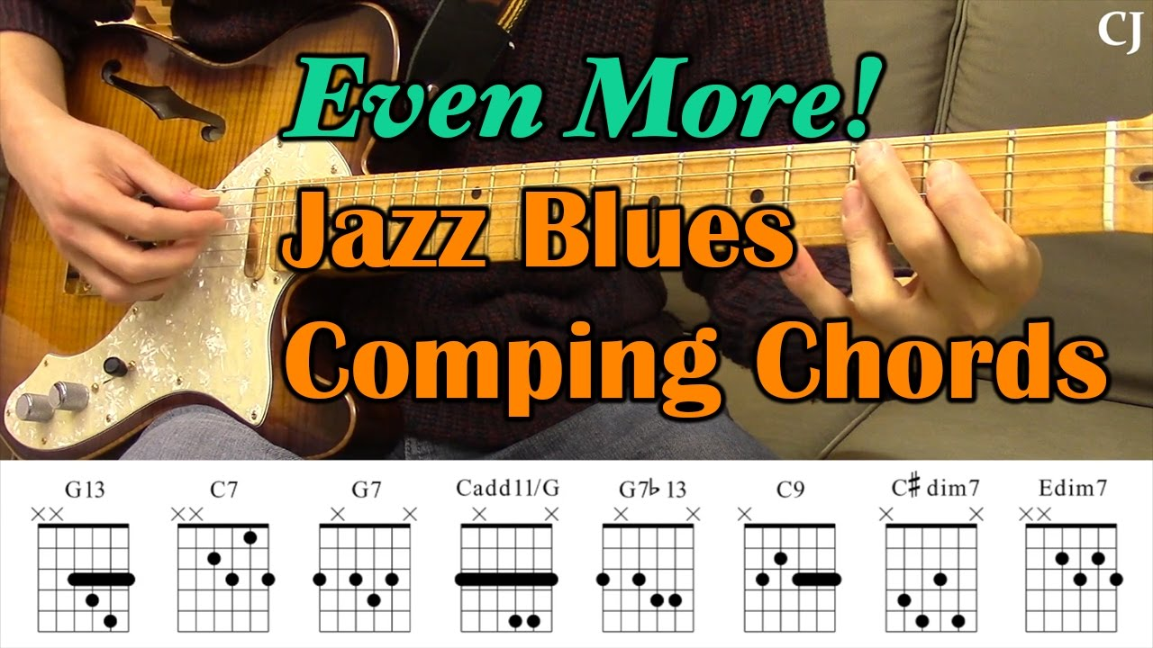 Even More Jazz Blues Comping Chords With Chord Boxes Guitar