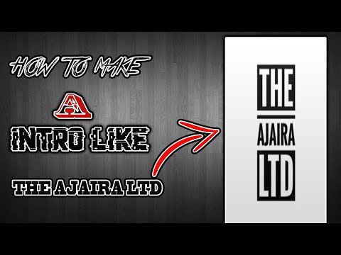 How To Make A Intro Like The Ajaira Ltd Youtube Channel - After Effect Free Templete