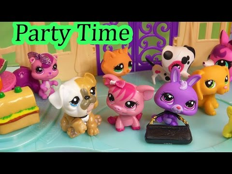 LPS PARTY MANSION - Flashback Mommies Part 50 Littlest Pet Shop Series Video Movie LPS Mom Babies