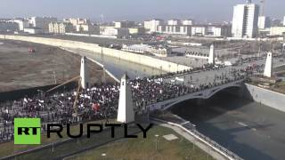 Russia: See over 1 MILLION march against Charlie Hebdo in Chechnya