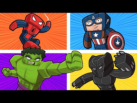 4-Player SUPERHERO Battle Royale! (Hulk/Black Panther/Spiderman)