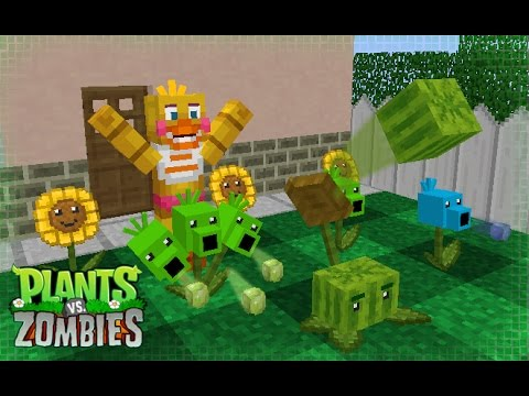 FNAF Monster School: Plants vs Zombies - Minecraft Animation