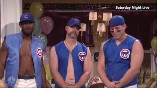 Chicago Cubs team transform into strippers in SNL skit