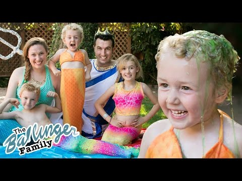Thumbnail: Mermaid Slime Bucket Challenge - Ballinger Family