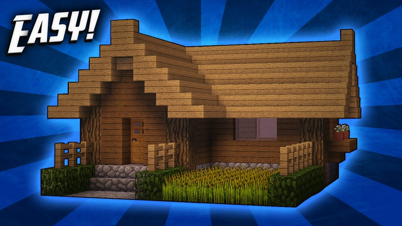 Minecraft how to build a small survival starter house tutorial 2 youtube