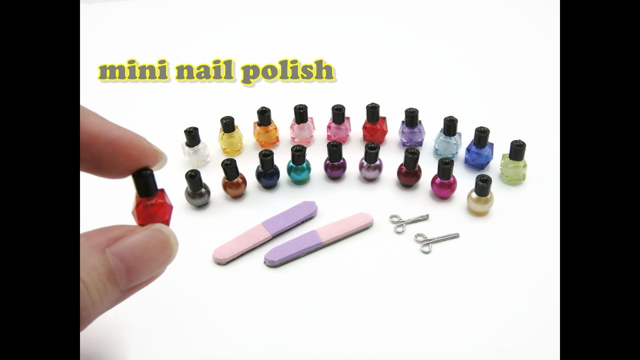 DIY Miniature Doll Mini Manicure Set Nail Polish, Scissors, Nail ...
