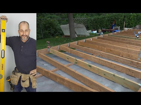How To Build Deck Part Ground Level Deck