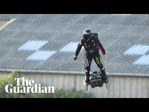 Laura Anderson - Inventor flies hoverboard over English Channel from France to England!