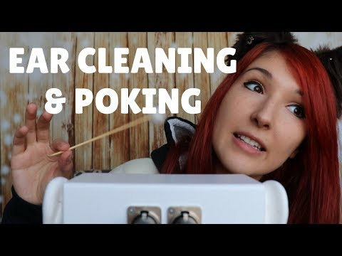 [1 HOUR] ASMR - EAR CLEANING ~ Intense Binaural Ear Cleaning w/ Fluffy Stick & Finger Poking ~