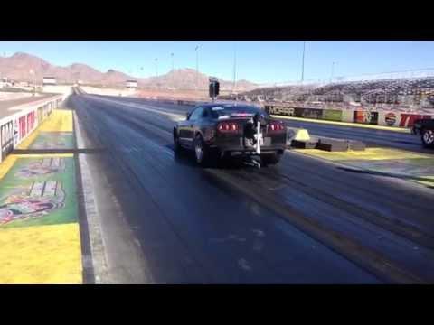 Chuck Watson Drag Racing Cobra Jet at Las Vegas Motor Speedway Run #1