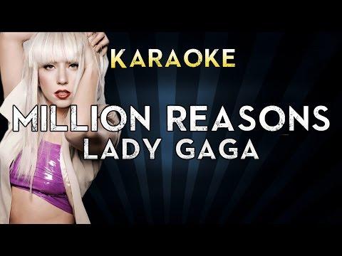 Lady Gaga - Million Reasons  LOWER Key Karaoke Instrumental  Cover Sing Along