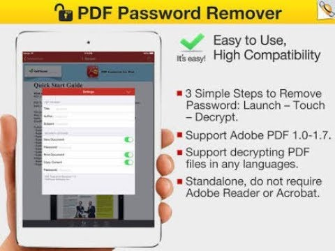 to remove password from pdf