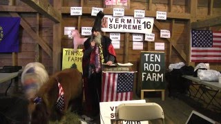 Vermin Supreme NH Town Hall Meeting 1/15/16 at Ten Rod Farm in Rochester, NH