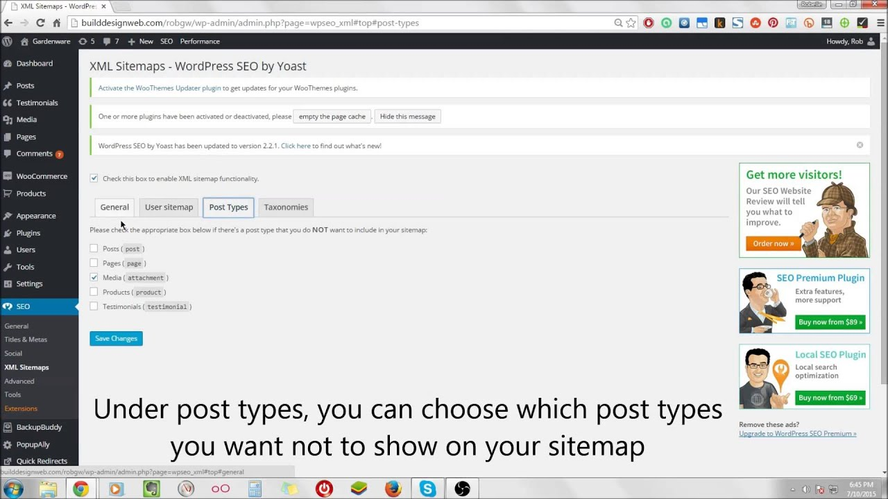 creating sitemaps with wordpress seo sitemaps youtube