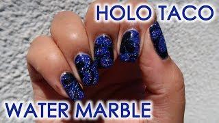 Holo Taco Water Marble   DIY Nail Art Tutorial