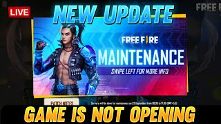 Free Fire Live- Why Game Is Not Opening? New Update Is Coming