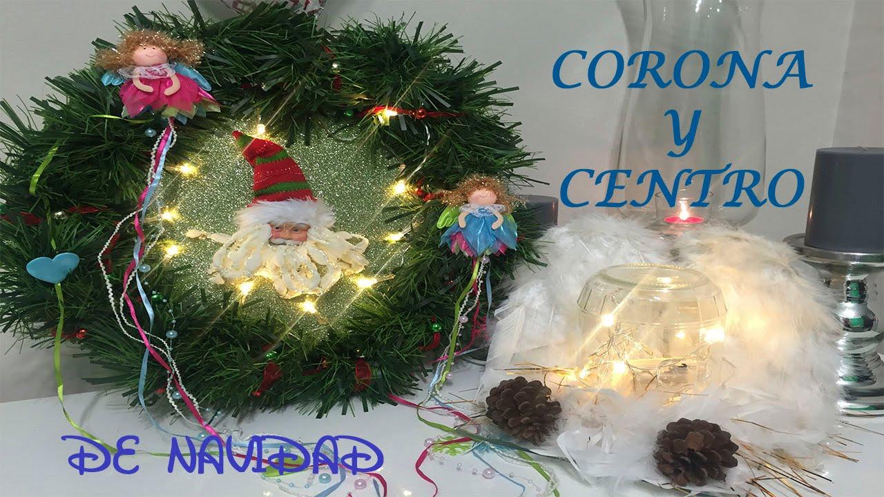 Como hacer una corona con luces y un centro de navidad - Como hacer coronas de navidad ...
