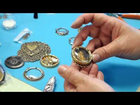 Using Deep Bezels and Magnifying Lenses to Make Customized Pendants, Brooches, Assemblage Jewelry