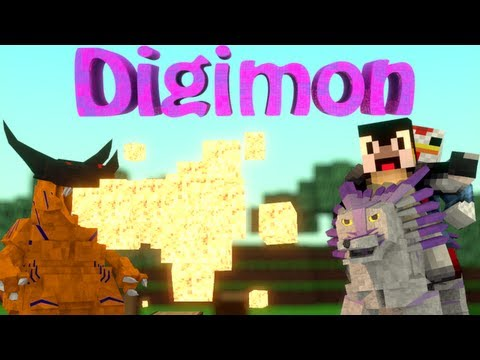 Digimon Mob Mod: Minecraft Digimobs Mod Showcase!
